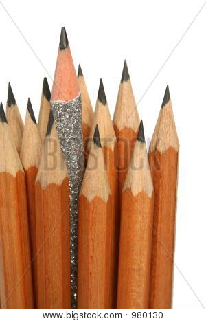 Unusual Pencil In An Environment Of Usual Pencils