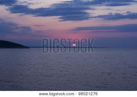 Sunrise Over The Sea Horizon