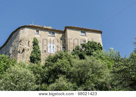 Building In An Old Mountain Village In Southern Europe