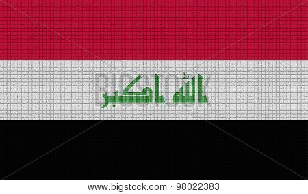 Flags Iraq With Abstract Textures. Rasterized