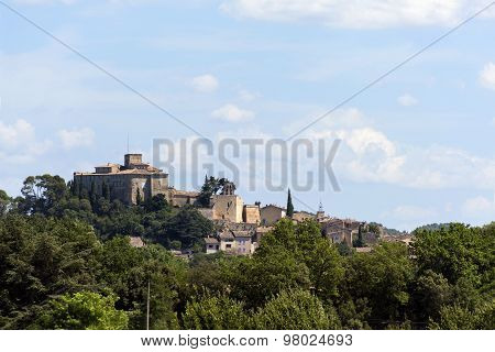 Historic Castle On The Hill, Chateau Of Ansouis,  Provence, South Of France