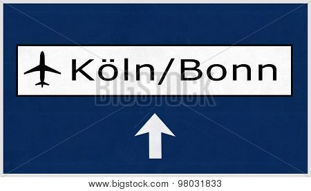 Koln Bonn Germany Airport Highway Sign