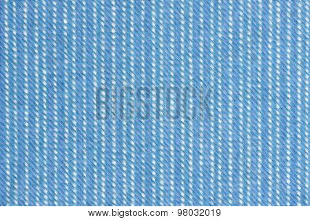 Abstract Blue And White Fabric Background