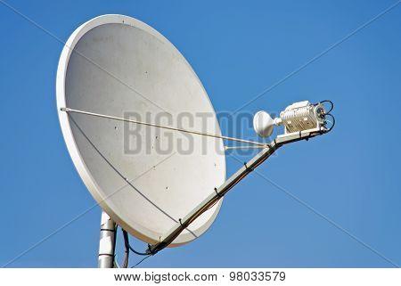 Parabollic Antenna to receive satellite TV signal poster