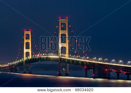 Mackinac Bridge Lights