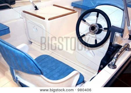 details of a new boat interior( yacht ) poster