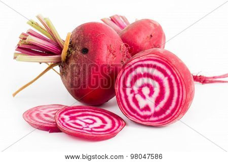 Chioggia Striped Beet On Wood Table