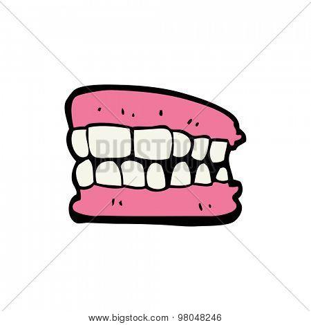 cartoon false teeth