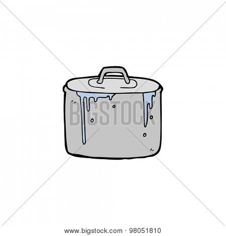 cartoon bubbling pan