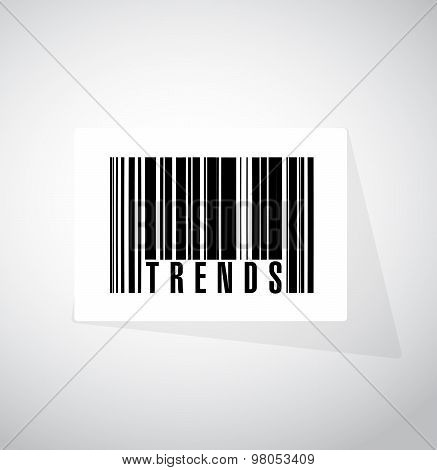 Trends Barcode Sign Concept