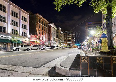 Main Street In Colorado Spring, Co, Usa