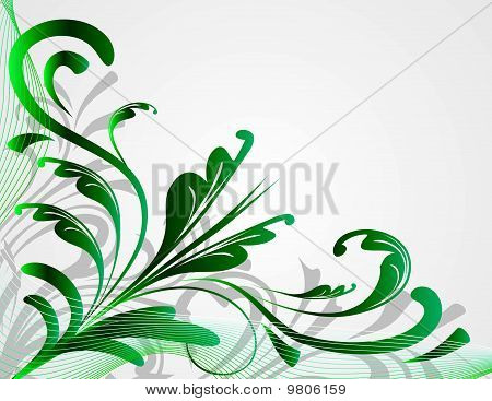 Abstract background with green plants