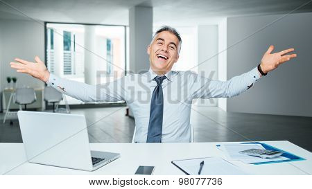 Cheerful Businessman Portrait