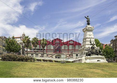 Porto, Portugal - July 04, 2015: Ferreira Borges Market, An Emblematic Landmark Of Iron Architecture