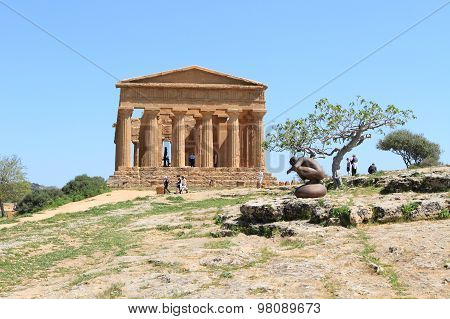 Ancient temple at Valley of Temples, Sicily