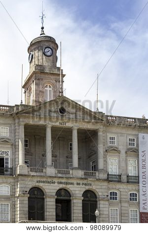 Porto, Portugal - July 04, 2015: The Palácio Da Bolsa (stock Exchange Palace), A Historical Building