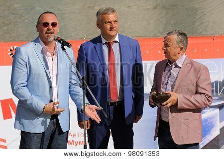 Orel, Russia, August 01, 2015: Mumu Fest, Turgenev's Story Art-festival, Yuri Grymov (film Director)