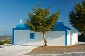 Orthodox chapel on the island of Rhodes in Greece poster