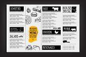 Cafe Menu Restaurant Brochure. Food Design Template. poster