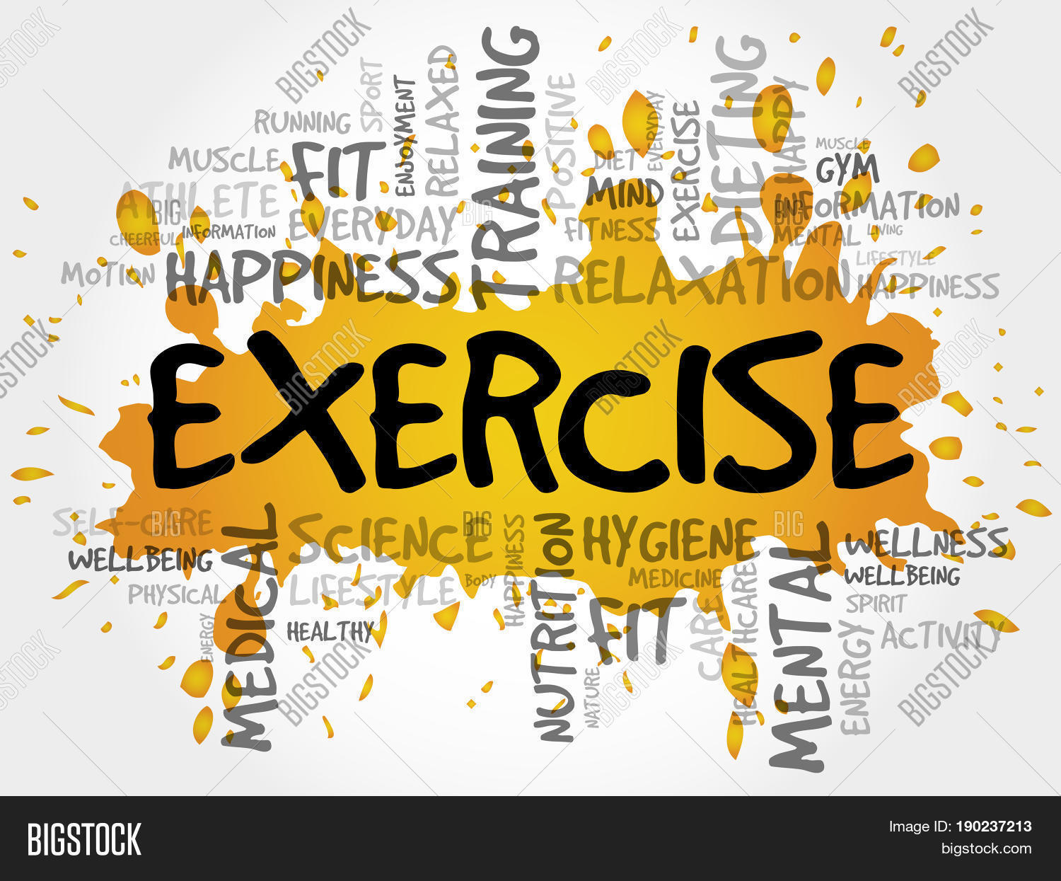 Exercise Word Cloud Image Photo Free Trial Bigstock