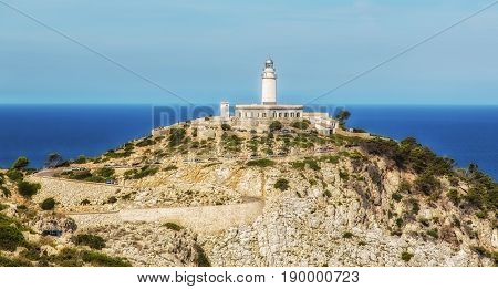 The great lighthouse Cap Formentor on Majorca