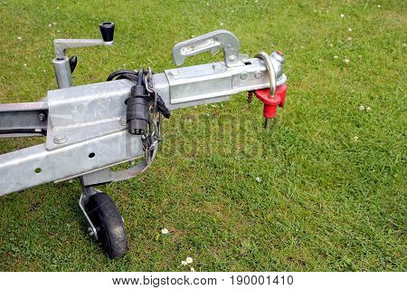 Trailer Hitch And Jockey Wheel, With Electric Hook Up And Hitch Lock