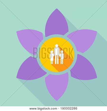 Long Shadow Loto With A Male Single Parent Family Pictogram