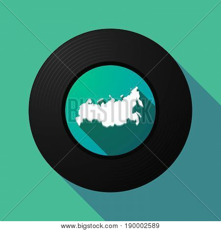 Long Shadow Music Disc With  A Map Of Russia