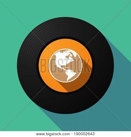 Long Shadow Music Disc With An America Region World Globe