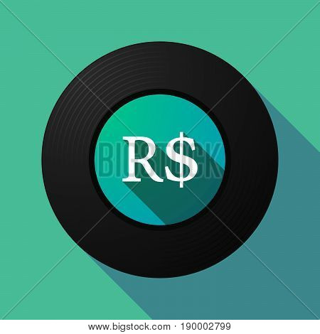 Long Shadow Music Disc With A Brazillian Real Currency Sign