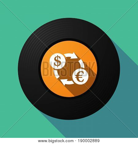 Long Shadow Music Disc With A Dollar Euro Exchange Sign