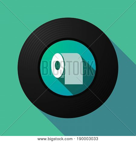 Long Shadow Music Disc With A Toilet Paper Roll