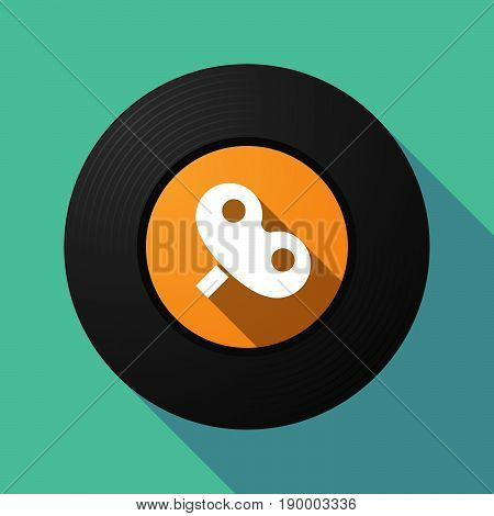 Long Shadow Music Disc With A Toy Crank