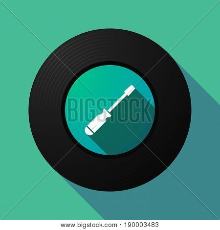 Long Shadow Music Disc With A Screwdriver