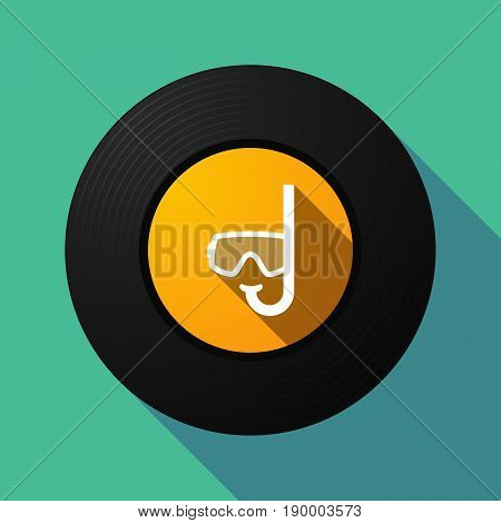 Long Shadow Music Disc With A Diving Goggles