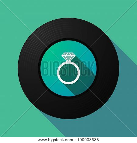 Long Shadow Music Disc With An Engagement Ring