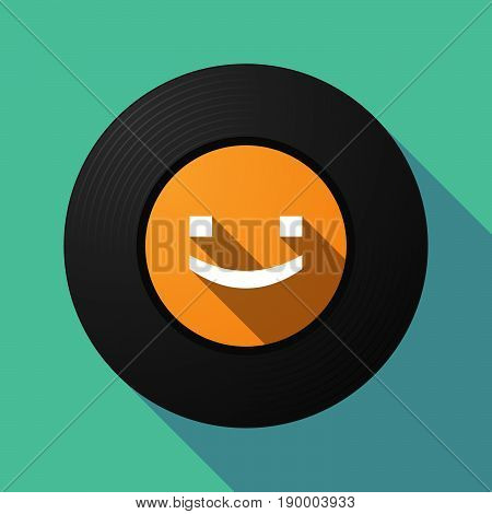 Long Shadow Music Disc With A Smile Text Face