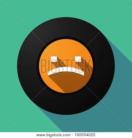 Long Shadow Music Disc With A Sad Text Face