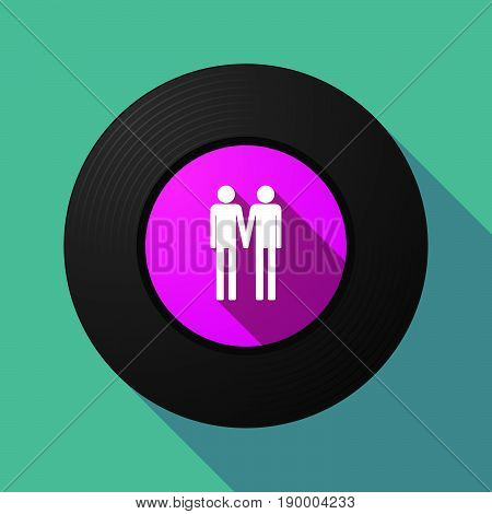 Long Shadow Music Disc With A Gay Couple Pictogram