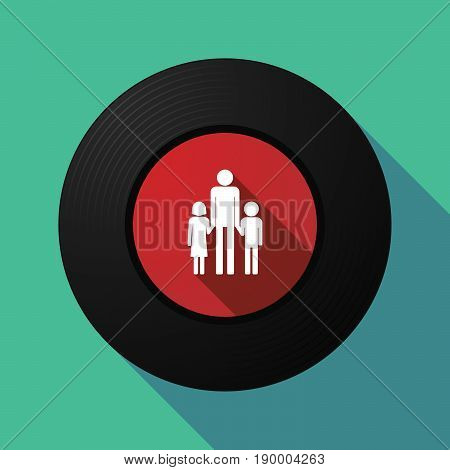 Long Shadow Music Disc With A Male Single Parent Family Pictogram