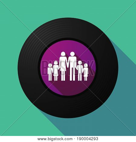 Long Shadow Music Disc With A Large Family  Pictogram