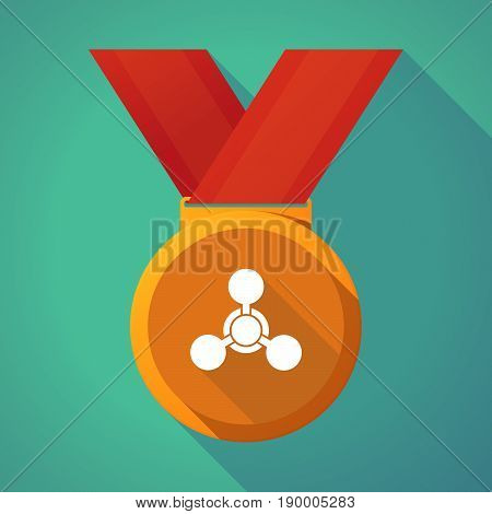 Long Shadow Medal With A Chemical Weapon Sign