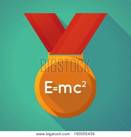 Long Shadow Medal With The Theory Of Relativity Formula
