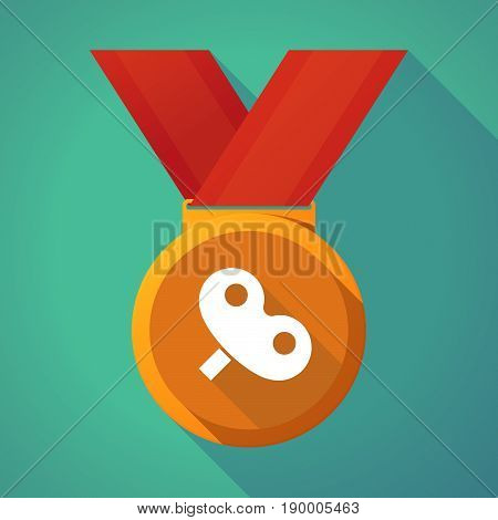 Long Shadow Medal With A Toy Crank