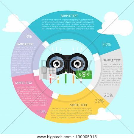 Competitive Analyst Infographic | Set of great flat design illustration concepts for business, finance, marketing and much more.
