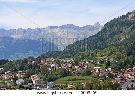 village of Passy in the French Alps