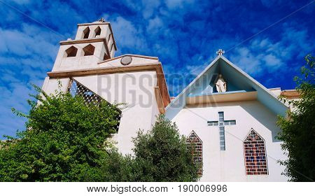 Exterior view to Church of the Virgin Mary Queen of the Rosary in Baghdad Iraq