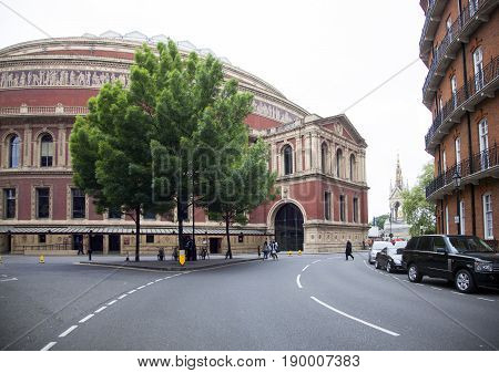 London United Kingdom 7 may 2017: beautiful tree in front of royal albert hall in london kensington