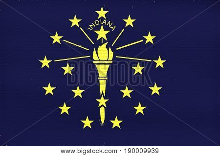 Flag Of Indiana Wall