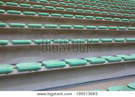 Empty Seats Of The Stadium Bleacher